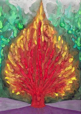 Flame Print by Wojtek Kowalski