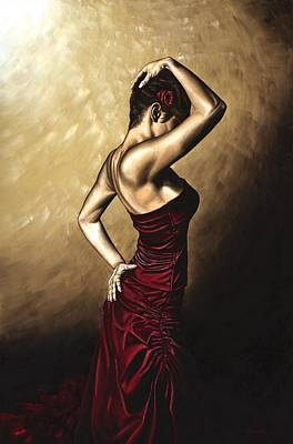 Dancers Painting - Flamenco Woman by Richard Young