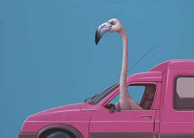 Flamingoes Painting - Flamingo by Jasper Oostland