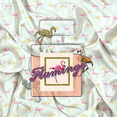 Animals Digital Art - Flamingo by La Reve Design