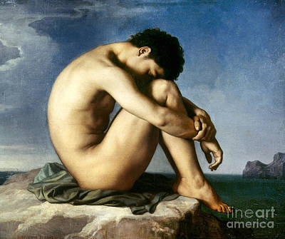 Photograph - Flandrin: Nude Youth, 1837 by Granger