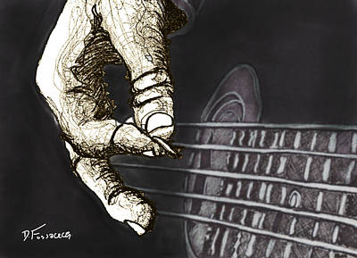 Flat Pickin' Print by David Fossaceca