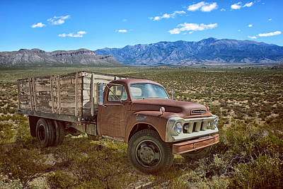 Manipulation Photograph - Flatbed Truck - Studebaker by Nikolyn McDonald