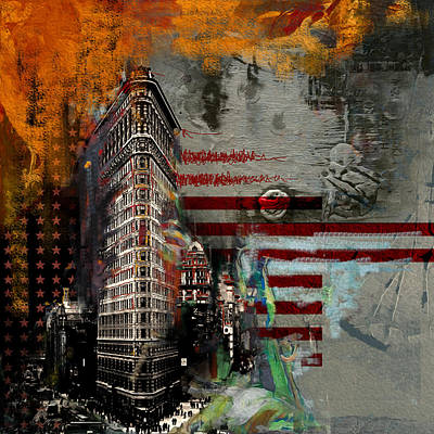 Chrysler Building Painting - Flatiron Building 207 1 by Mawra Tahreem