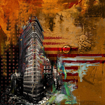 Chrysler Building Painting - Flatiron Building 207 2 by Mawra Tahreem