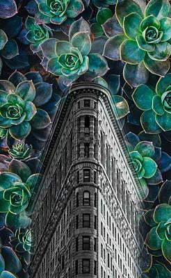Nyc Digital Art - Flatiron Building Art by Britten Adams