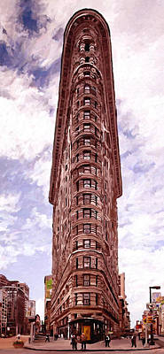 Landscapes Painting - Flatiron Building by James Shepherd