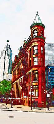 Flatiron Building Toronto Print by Alex Pyro