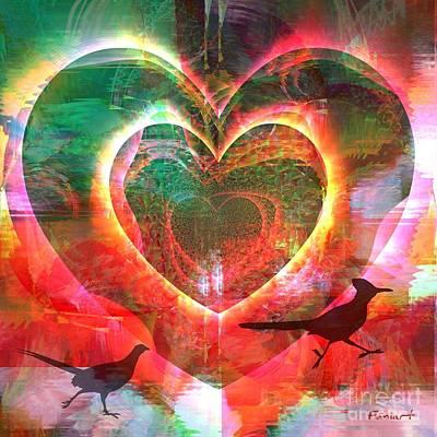 Yesayah Digital Art - Flattering Heart by Fania Simon
