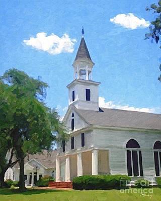 Painting - Flemington Presbyterian Church by Tammy Lee Bradley