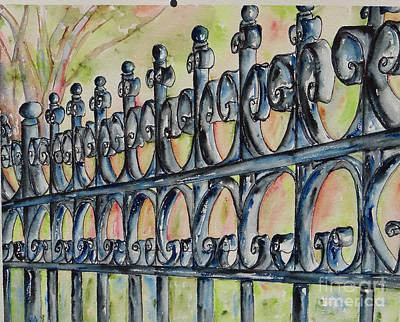 Painting - Fleur De Lisrod Iron Fence by Catherine Wilson
