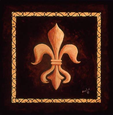 Fleur De Lis Painting - Fleur De Lys-king Louis Xv by Marilyn Dunlap