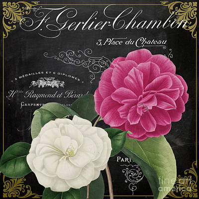 Fleur Du Jour Camellias Print by Mindy Sommers