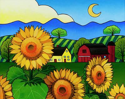 Fleur Du Soleil Original by Stacey Neumiller