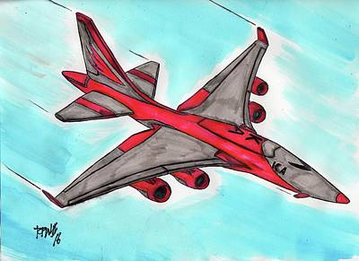 Airliners Mixed Media - Flight 4262 by Ronald Woods