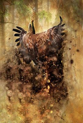 Art In Nature Mixed Media - Flight From The Earth by Georgiana Romanovna