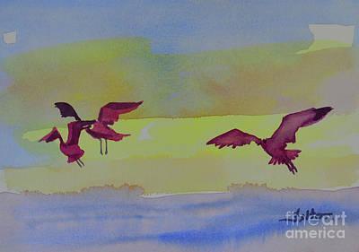 Painting - Flight Of 3 Birds by Julianne Felton