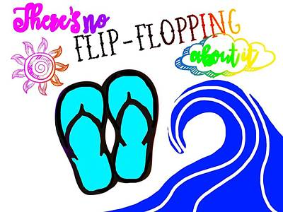 Flip Mixed Media - Flip Flopping by Shanhan Truitt-Roos