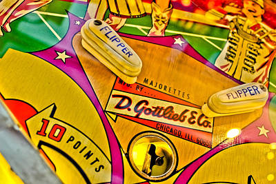 Flip It - Pinball Print by Colleen Kammerer