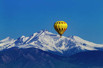 Floating Above The Mountains Print by Teri Virbickis