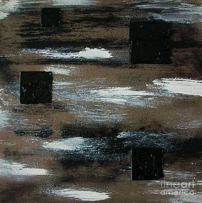 Boxes Painting - Floating Squares by Marsha Heiken