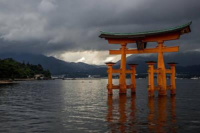 Floating Torii In Miyajima Print by Aymeric Gouin
