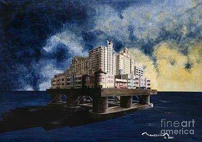 Flood In Miami 2 Print by Alain Baudouin