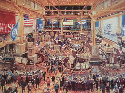 Floor Of The Nyse Print by Kamil Kubik