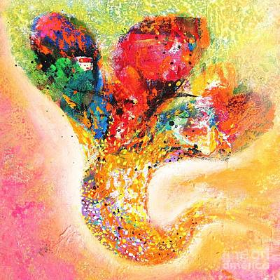 Painting - Floral Abstract  by Sanjay Punekar