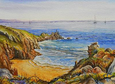Fineart Mixed Media - Floral Cliffs by Andrew Read
