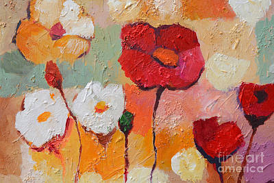 Painted Painting - Floral Impasto by Lutz Baar