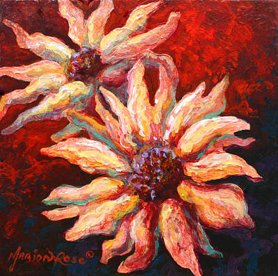 Daisies Painting - Floral Mini by Marion Rose