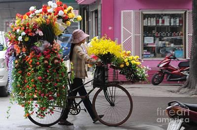 Hanoi Photograph - Floral Ride by Marion Galt