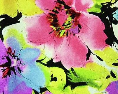 Floral Sassy Original by Florene Welebny