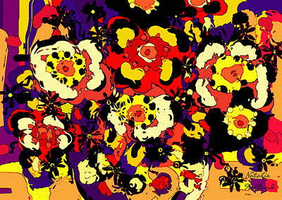 Abstract Floral Compositions Mixed Media - Floral Splendor by Natalie Holland
