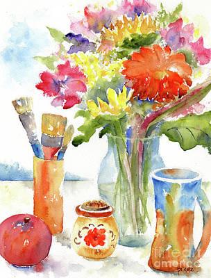 Floral Still Life Original by Pat Katz