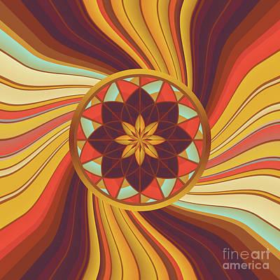 Algorithmic Digital Art - Floral Vortex by Gaspar Avila