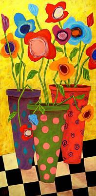 Modern Folk Art Painting - Floralicious by John Blake