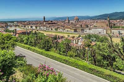 Michelangelo Photograph - Florence View From Piazzale Michelangelo by Melanie Viola