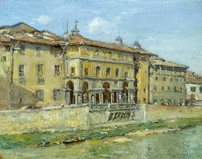 Italian Landscapes Painting - Florence by William Merritt Chase