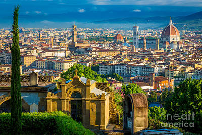 Florentine Vista Print by Inge Johnsson