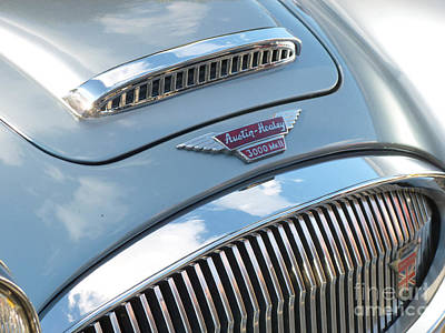 Austin - Healey 3000 Mark II Hood Emblem Print by Jason Freedman