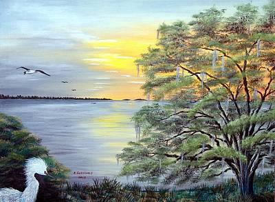 Florida Bay Sunrise Print by Riley Geddings