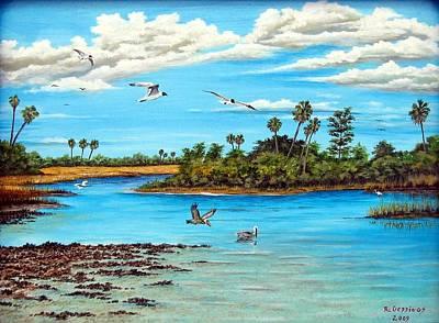 Florida Bayou Print by Riley Geddings