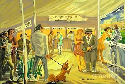 Dog Race Track Painting - Florida  Dog Track by Shirl Solomon