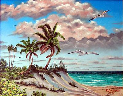 Painting - Florida Gulf Dune by Riley Geddings