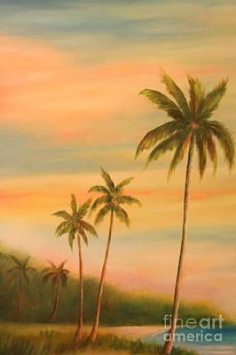 Florida Palms Trees Print by Gabriela Valencia