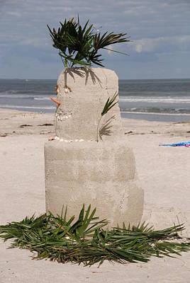 Florida Snow Man Print by Susanne Van Hulst