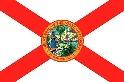 Florida State Painting - Florida State Flag by American School
