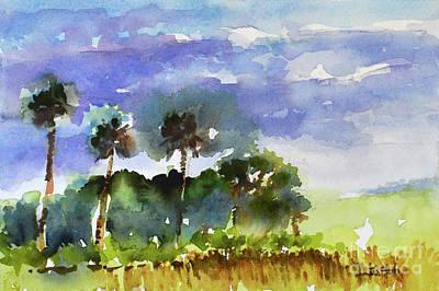 Painting - Florida Wetlands Watercolor by Julianne Felton